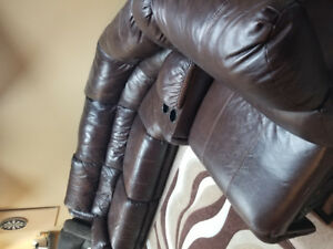 Leather Recliner Sectional