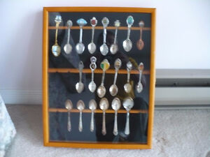 collector spoons and cabinet