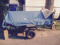 tilt trailer all steel   4' X 6 ' with  2 ramps