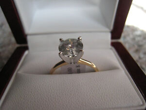 1.85 Ct 14K Gold Diamond Solitaire H Color, I3 Clarity, Fair cut London Ontario image 1