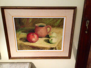 Vintage Still Life Original Oil Painting Signed by the Artist