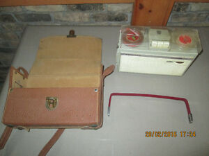 1961  PHILIPS SOUND RECORDER AND CARRY CASE AND MIKE!