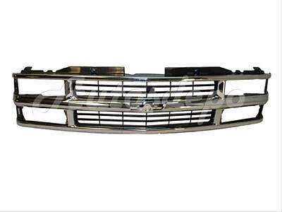 FOR 1994 2002 CK PICKUP 94 99 SUBURBAN GRILLE CHROME  BLACK COMPOSITE