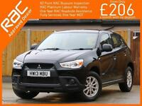 2013 Mitsubishi ASX 2 - 1.6 5 Speed 4x4 4WD Air Conditioning Only 15,000 Miles F
