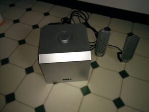 Dell A525 speakers with powered sub-woofer: $25.00!