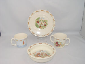 Bunnykins Dish Lot Royal Doulton Fine Bone China date 2004