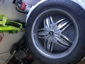 4 Nitto Terra Grappler Tires with Ave rims
