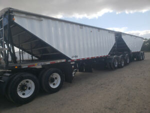 2015 Prestige Super B  GrainTrailers with lift axles