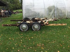 Trailer frame with two 3500lbs axles