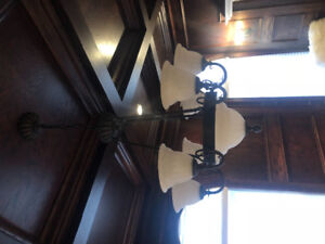 Chandelier with matching wall sconces