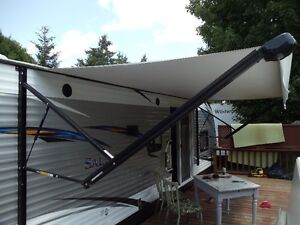 18 foot 12 volt electric powered soft awning for sale