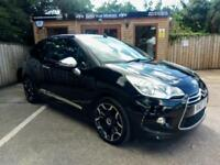 2013 CITROEN DS3 CABRIO 1.6 THP ( 155bhp ) DSPORT PLUS IN BLACK WITH PURPLE ROOF