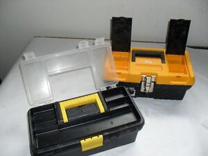 2 small tool boxes