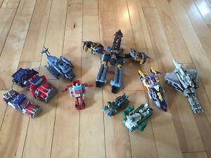 Collection of 9 Transformers