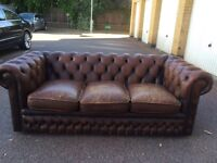 Chesterfield three seater sofa free London delivery