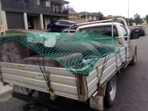 Man and ute for pickup delivery and rubbish removal