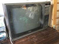 Free for uplift working Vintage wood cased Ferguson TX television