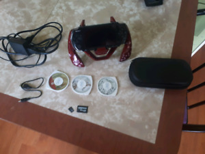 PSP 3001 with games and accessories