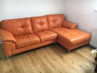Leather corner sofa!
