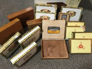 For Sale- Collection of Cuban Cigar Boxes