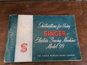 Singer instruction manual model 99 1953
