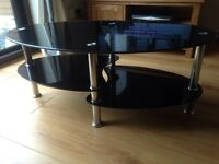 Black glass tv stand or coffee table