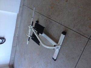 T-Bar back exercise machine