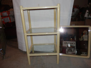 3 TIER STAND WITH MATCHING MIRROR