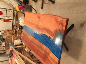 Live Edge Resin River Table
