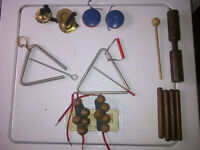 Hand Percussion Instruments Etc For Sale Wood Block Claves ++
