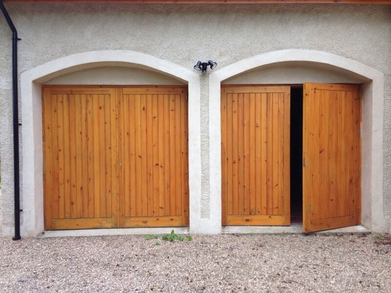 Garage Doors Double Wooden Garage Doors In Inverurie