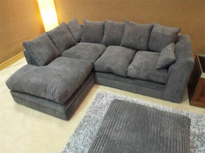 BRAND NEW CORNER OR 3 SEATER AND 2 SEATER SOFA SETTEE COUCH IN BLACK GREY BROWN