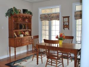 ** Bermex solid wood, 9 piece Dining Set...made in Canada......