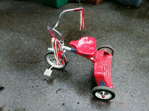 Solid metal red tricycle