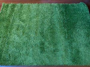 Tapis vert à poil long 4x6
