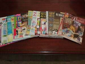 Scrap booking & Card making Magazines (48 issues) sold as a lot