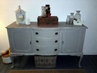 **ANTIQUE SHABBY CHIC LONG LENGTH SIDEBOARD - FINISHED IN FARROW & BALL**