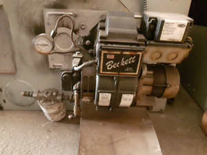 Beckette powered oil furnace