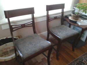 Set of queen Anne chairs