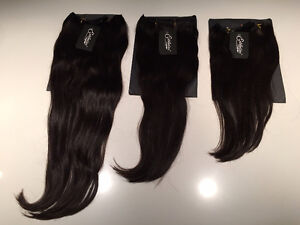 100% Brazilian Human hair clip-in extensions