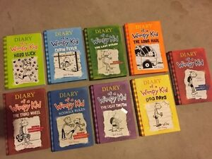 DIARY OF A WIMPY KID-all 9 books