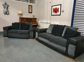 Nice grey 3 and 2 seater sofa free delivery