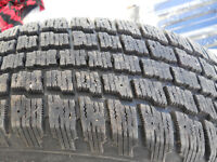 For sale four 205/60/r15 cooper winter tires with steel  rims