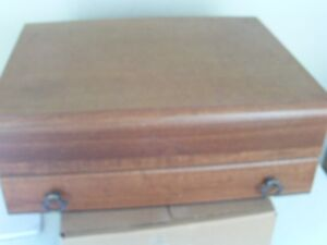 Velvet/satin lined hardwood silverware chest