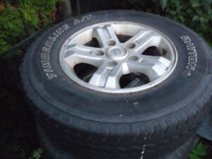 P245/70R16 Tires on OEM KIA Rims from a 2006 Sorento