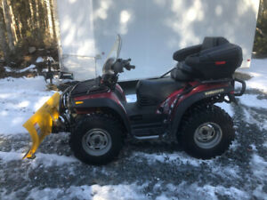 ATV With Snow Plow