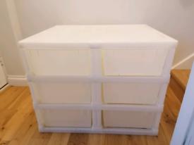 6 drawer plastic storage