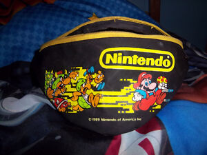 1989 Nintendo  Mario and Bowser fanny pack