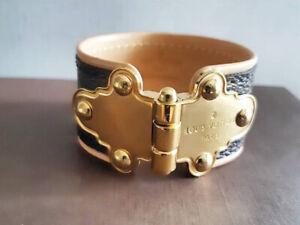 Authentic LV monogram leather bracelet