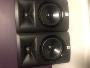 Pair of JBL LSR305 Studio Monitors